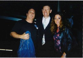 Andy and Jen with Lyle Lovett